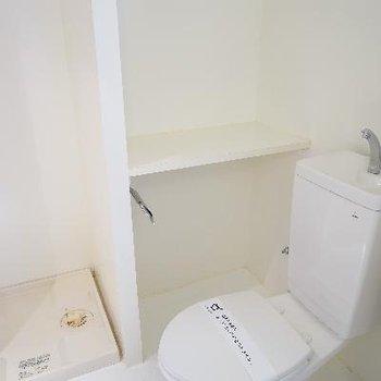 真っ白なトイレに