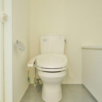 脱衣所あけると、おトイレ。