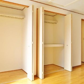 3階の寝室、お洒落な衣装持ちさんだって余裕です!
