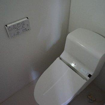 トイレはウォシュレットつき!※電気がついていません