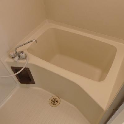 お風呂は二人ほど入れる広さです。