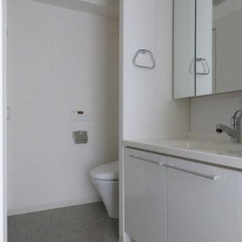 洗面スペースは一緒になっています※写真は別部屋