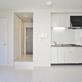 キッチンはお部屋の中です。