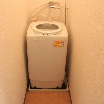 洗濯機も備え付け