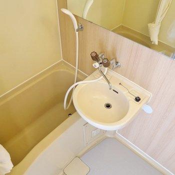 お風呂の鏡が大きい!!