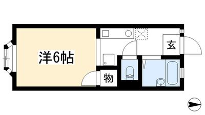 アパートメントハウス二軒家 の間取り