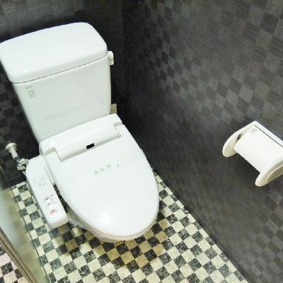 洗浄機能付きトイレ。