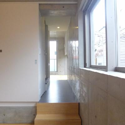 洋室に続く廊下です。