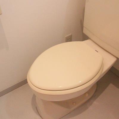 トイレは洗面台の隣に