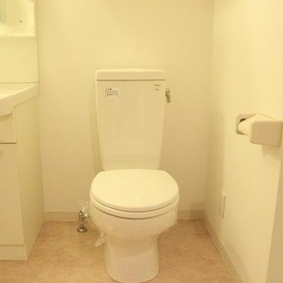 トイレは洗面台と隣り合った配置に