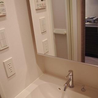 洗面台です。*写真は別部屋です