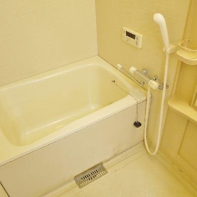 お風呂は意外とオーソドックス。