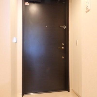 玄関扉の両脇に収納があります