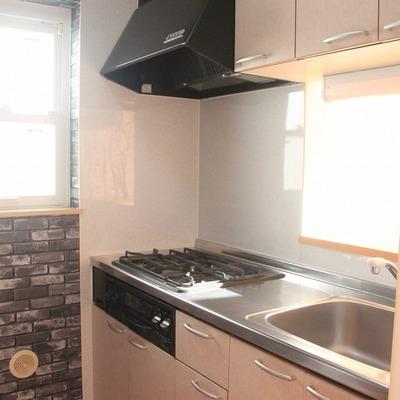 設備もさることながら、素敵なクロスが印象的なキッチン
