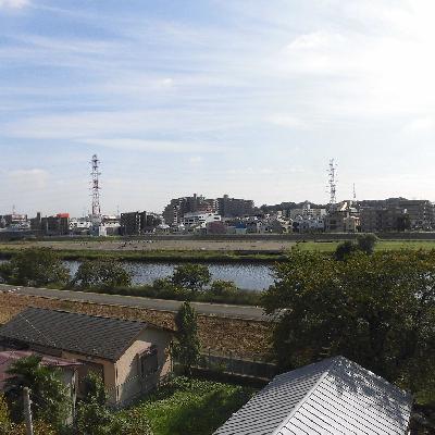 眺望は鶴見川です!気持ちいー