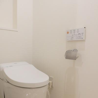 トイレはタンクレスタイプ