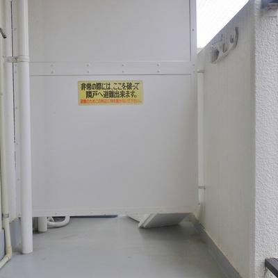 洗濯置き場は、ここに。