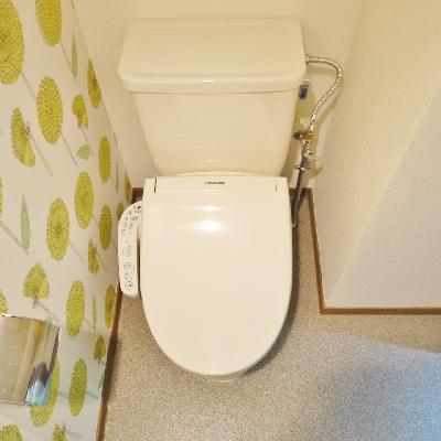 トイレは変形だけど、広いんです!