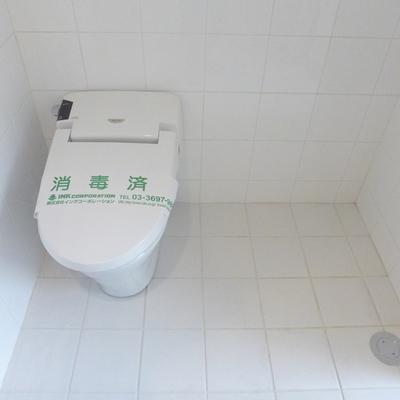 トイレの横に洗濯機