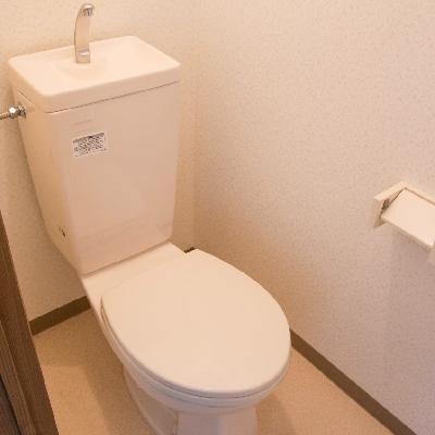 玄関のすぐそこにトイレ