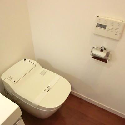 トイレは脱衣所に併設なんです…。