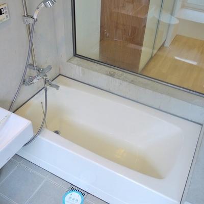 バスルームは広め。