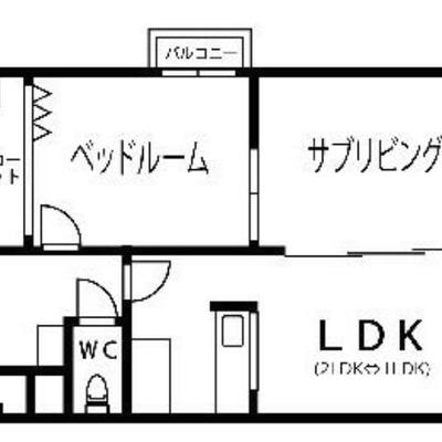 どのお部屋も明るい2LDK。