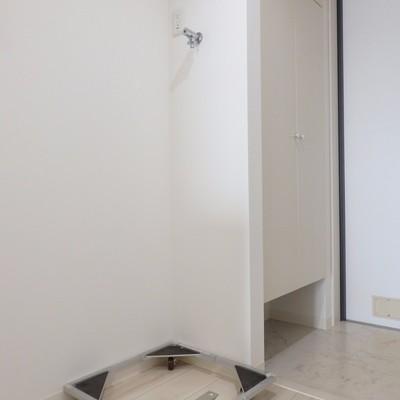 玄関横の洗濯機置き場