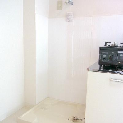 洗濯機も室内です