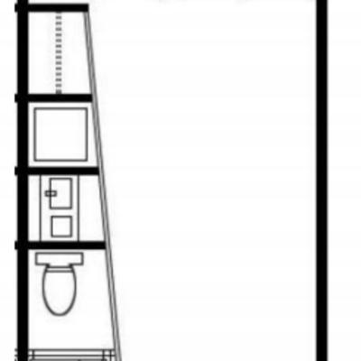 長方形の面白い形のお部屋