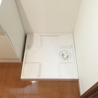 洗濯機置き場はトイレ横に