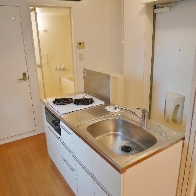 これが上からみたキッチン。可愛いとしか思えない!!
