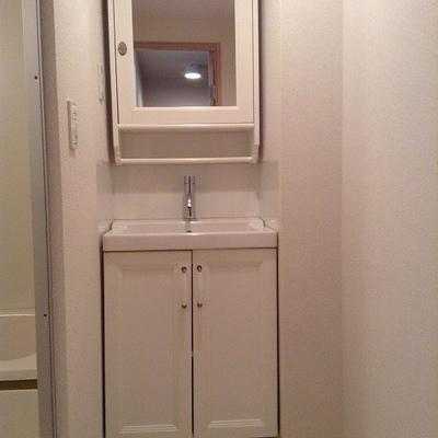 洗面台がかわいい※写真は別部屋です