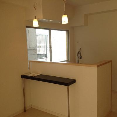 キッチン、かわいい※写真は別部屋です