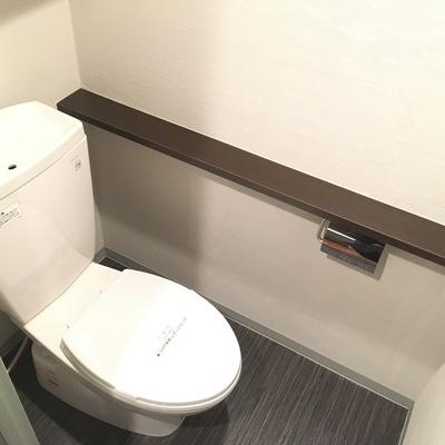 トイレの脇に棚がありますね、ここに小さな植物なんか飾りたい
