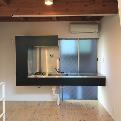 キッチン。ステキなデザインですね。