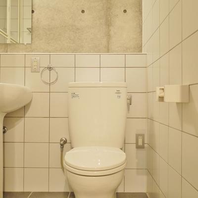 トイレを正面から。