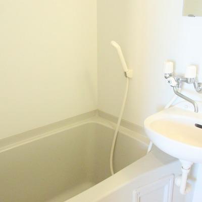 オーソドックス。浴室と洗面台の一体型です