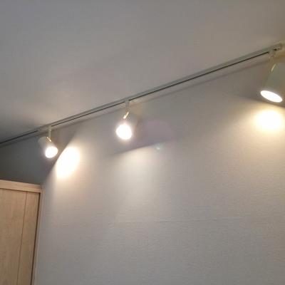 照明は可動照明レールタイプ