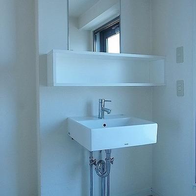 シンプルな洗面台が素敵※画像は別室です