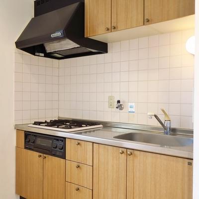 レトロな雰囲気のキッチン。