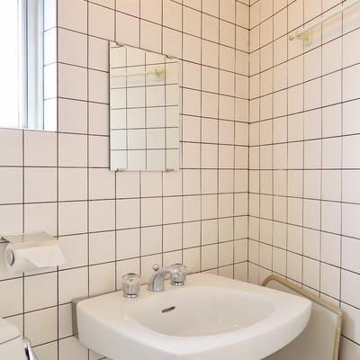 海外のお家みたいなバスルーム。