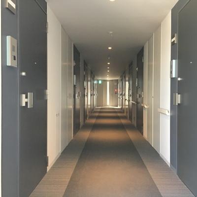 廊下。ここにも奥から陽がこぼれます