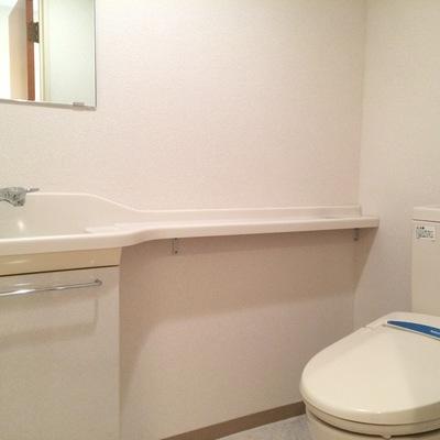 小さいお手洗い付きのトイレ