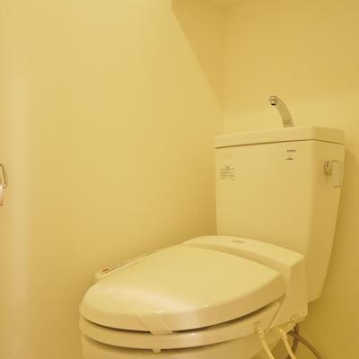 さすがに赤のトイレは落ち着かない。無難に白で。