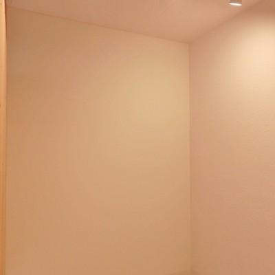 寝室に使えそうなこちらはスポットライトで照らされています。