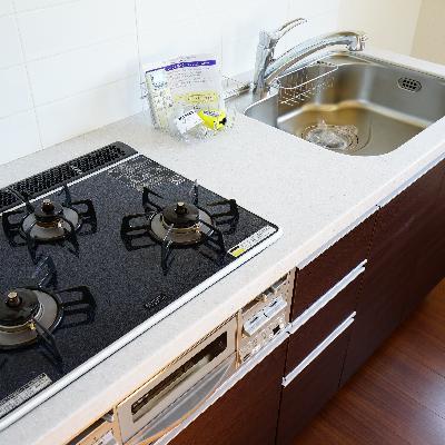 キッチンは3口ガスコンロ♪