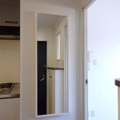 玄関入って目の前に鏡。これ意外と嬉しいのです