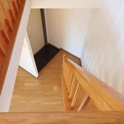 階段から下を見下ろしてみよう。