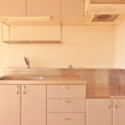 キッチンはゆったり使えます。システムではないのが残念。